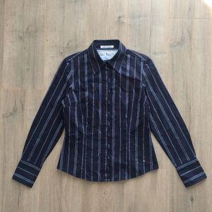 Tommy Hilfiger Blue Striped Cotton Shirt 6